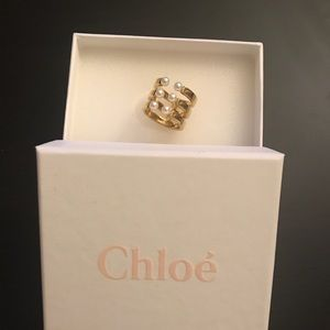 Chloé's 'Darcey' ring with Swarovski pearls - NWOT